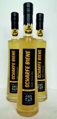 Honiglikör mit Ingwer und Zitrone